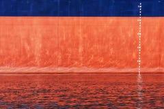 Waterline skala liczby na statku Zdjęcie Stock