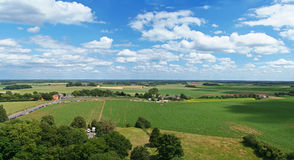 Waterloo-Ansicht des Kampffeldes Lizenzfreies Stockfoto