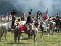 Waterloo, Belgium - June 18 2017: Scenes from the reenactment of royalty free stock photos