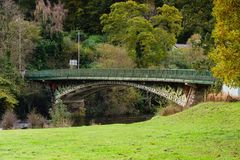 Waterloo Bridge in Betws y Coed North Wales. The Waterloo Bridge constructed in 1815 crossing the River Conwy in Betws y Coed North Wales an early cast iron royalty free stock photography