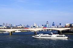 Waterloo Bridge in London Royalty Free Stock Photo