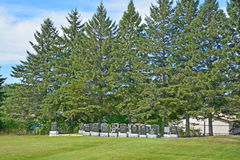 Waterloo Cemetery. WATERLOO QUEBEC CANADA 07 09 2016: Waterloo Cemetery Waterloo Monteregie Region Quebec, Waterloo is a small town, so therefore the cemetery stock photo