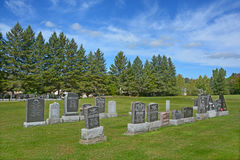 Waterloo Cemetery. WATERLOO QUEBEC CANADA 07 09 2016: Waterloo Cemetery Waterloo Monteregie Region Quebec, Waterloo is a small town, so therefore the cemetery Stock Photos