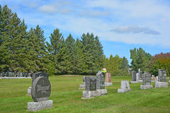 Waterloo Cemetery. WATERLOO QUEBEC CANADA 07 09 2016: Waterloo Cemetery Waterloo Monteregie Region Quebec, Waterloo is a small town, so therefore the cemetery royalty free stock images