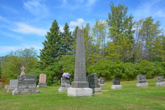 Waterloo Cemetery. WATERLOO QUEBEC CANADA 07 09 2016: Waterloo Cemetery Waterloo Monteregie Region Quebec, Waterloo is a small town, so therefore the cemetery stock images