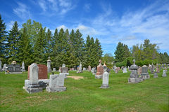 Waterloo Cemetery. WATERLOO QUEBEC CANADA 07 09 2016: Waterloo Cemetery Waterloo Monteregie Region Quebec, Waterloo is a small town, so therefore the cemetery Royalty Free Stock Photography