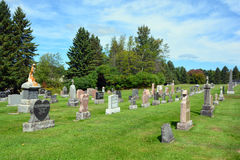 Waterloo Cemetery. WATERLOO QUEBEC CANADA 07 09 2016: Waterloo Cemetery Waterloo Monteregie Region Quebec, Waterloo is a small town, so therefore the cemetery Royalty Free Stock Image