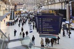 Waterloo järnvägsstation - London arkivbild