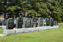 Waterloo kyrkogård arkivbilder