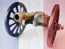 Waterloo pequeno - canhão Foto de Stock
