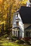 Waterloo, Quebec, Canada; House In Autumn Stock Photo