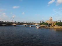 Waterloo solnedgång i London royaltyfria foton