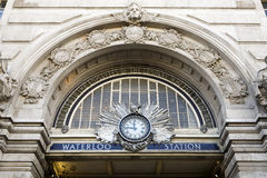Waterloo Station. Entrance to Waterloo railway station, London, England Royalty Free Stock Photo