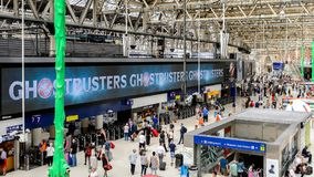 Waterloo station, a central London railway terminus royalty free stock images
