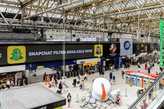 Waterloo station, a central London railway terminus royalty free stock image