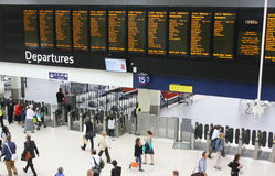 Waterloo Station Departures Board Stock Images