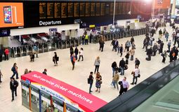 Waterloo Station London departures Royalty Free Stock Photos