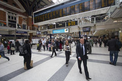 Waterloo Station Passengers Stock Image