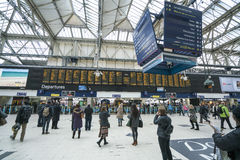 Waterloo Station wide angle view  - London England  UK Royalty Free Stock Images