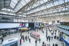 Waterloo Station wide angle view  - London England  UK Stock Image