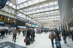 Waterloo Station wide angle view  - London England  UK Stock Images