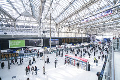 Waterloo Station wide angle view  - London England  UK Stock Photos