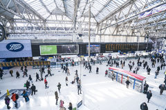 Waterloo Station wide angle view  - London England  UK Stock Photography