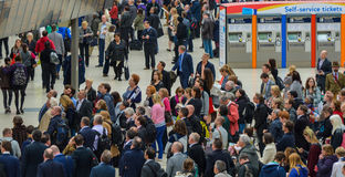 Waterloo-Stations-Pendler Stockfotos