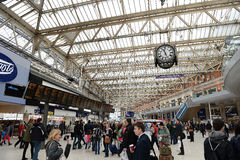 Waterloo train station,London,England Royalty Free Stock Photo