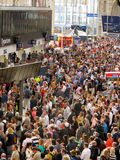 Waterloo travel chaos Stock Image