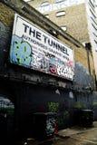 Waterloo tunnel London. Waterloo tunnel in London Graffitti Stock Photography