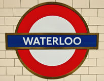 Waterloo Underground Stock Photos