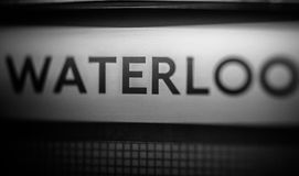 Waterloo. Underground station in London Royalty Free Stock Photography