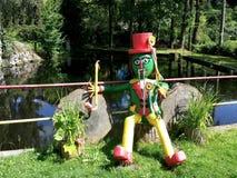 Waterman на спрайте воды сельской местности природы пруда стоковая фотография rf