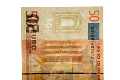 Watermark on 50 euro banknotes Royalty Free Stock Image