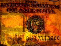 Watermark face US $50 bill Stock Images