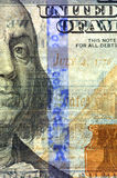 Watermark on new hundred dollar bill Royalty Free Stock Image