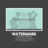 Watermark Sign On Photo. Watermark Sign On Photo Vector Illustration Royalty Free Stock Photo