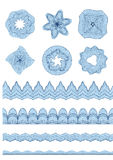 Guilloche Pattern Rosette for Certificate Watermarks  for certificate, diploma Royalty Free Stock Photos