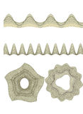 Guilloche Pattern Rosette for Certificate Watermarks Royalty Free Stock Photos
