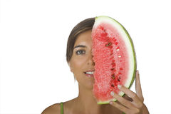 Watermellon girl Royalty Free Stock Images