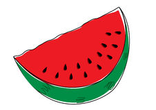 Watermeloen Stock Illustratie
