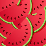 Watermeloen Achtergrondpatroon Stock Fotografie