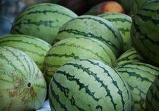 Watermeloen bij de Joodse markt in Jeruzalem Royalty-vrije Stock Afbeelding