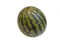 Watermeloen die op wit wordt geïsoleerde Stock Fotografie