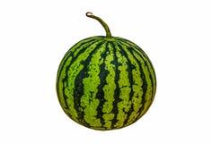 Watermeloen die op wit wordt geïsoleerdr Knippende weg Stock Foto's