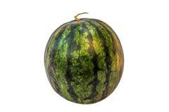 Watermeloen die op wit wordt geïsoleerdr Knippende weg Royalty-vrije Stock Afbeelding