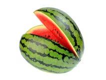 Watermeloen die op witte achtergrond wordt geïsoleerd) Royalty-vrije Stock Fotografie