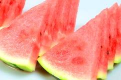 Watermeloen die op witte achtergrond wordt geïsoleerd) Royalty-vrije Stock Afbeelding