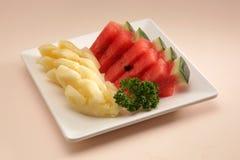 Watermeloen en ananas Royalty-vrije Stock Foto's